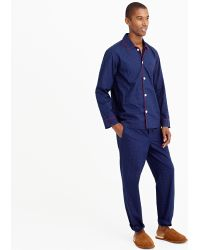 J.Crew Pajama Set in Navy and Red Dot - Lyst