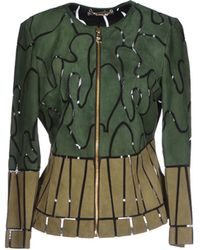 Versace Jacket green - Lyst