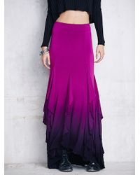 Free People Fp X Venus Ruffle Maxi purple - Lyst
