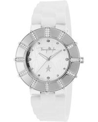 Thierry Mugler Womens Silver-tone Case Silver-tone Star Print Desgined Dial - Lyst
