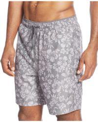 Calvin Klein Hibiscus Swim Trunks gray - Lyst