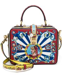 Dolce & Gabbana | Multicolor Textured Leather Top-handle Bag | Lyst
