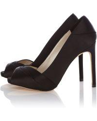 Karen Millen Pleated Satin Shoe - Lyst