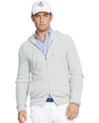 Polo Ralph Lauren Waffle-Knit Cashmere Hoodie - Lyst