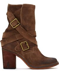 Nasty Gal Jeffrey Campbell France Strapped Boot  Brown - Lyst