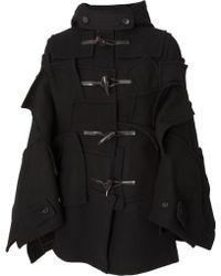 Junya Watanabe Hooded Wool Duffle Cape Black - Lyst