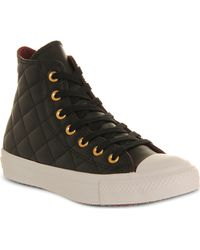 Converse All Star Quilted-leather High Tops - Lyst