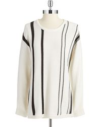 Calvin Klein Striped Pullover Sweater - Lyst