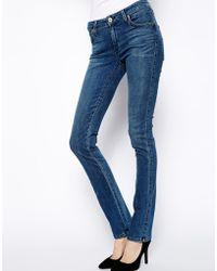James Jeans High Waist Skinny Jeans - Lyst