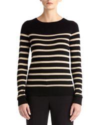 Anne Klein Zipper Back Striped Pullover - Lyst