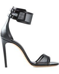 Casadei Mesh Strap Sandals - Lyst
