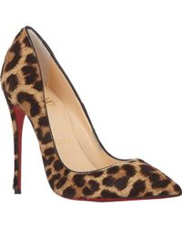 Christian Louboutin Leopard Haircalf So Kate Pumps - Lyst