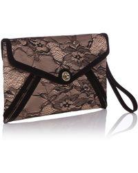 Karen Millen Lace Envelope Clutch - Lyst