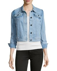 Stella McCartney Light-Wash Denim Jacket - Lyst
