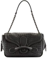 Bottega Veneta Intreccio Medium Flap Shoulder Bag - Lyst