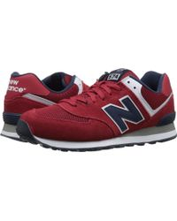 New Balance | red 574 - Varisty | Lyst