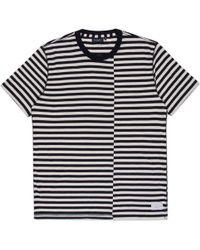 Paul Smith Men'S Navy Offset Breton-Stripe T-Shirt blue - Lyst