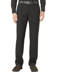 Calvin Klein Checked Flatfront Pants - Lyst