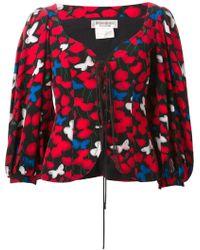 Yves Saint Laurent Vintage Printed Jacket red - Lyst