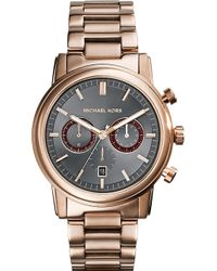 Michael Kors Landaulet Rose Gold Bracelet Watch - For Men - Lyst