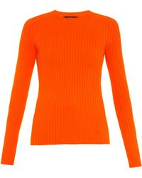 Gucci Ribbed Stretch-Jersey Sweater - Lyst