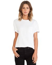 T By Alexander Wang Tee with Pocket - Lyst