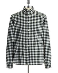 Lacoste Checkered Sport Shirt - Lyst