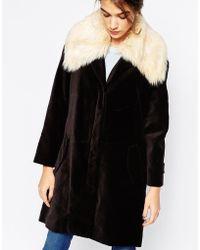Antipodium - Beagle Coat With Faux Fur Collar - Lyst