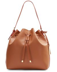 Vince Camuto Leather Drawstring Bucket Bag - Lyst