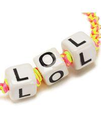 Venessa Arizaga - Women's Lol Bracelet - Lyst