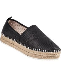 Steve Madden Choppur Espadrille Black Perforated - Lyst