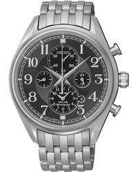 Seiko Mens Chronograph Solar Alarm Stainless Steel Bracelet Watch 43mm Ssc207 - Lyst