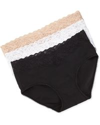 Wacoal Cotton-suede Hipster Briefs - Lyst