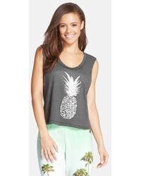 All Things Fabulous - Crop Muscle Tee - Lyst