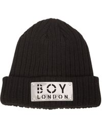 ... Wool Blend Knit Beanie Hat Lyst. Men S Boy London Hats 1152b777f13b