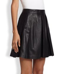 Proenza Schouler Pleated Leather Skirt - Lyst