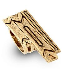 House Of Harlow 1960 Engraved Three Set Stacking Rings gold - Lyst