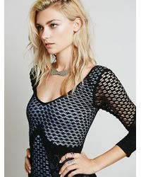 Free People 34 Textured Bodycon Slip - Lyst