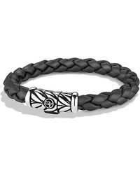 David Yurman Chevron Rubber Weave Bracelet 8mm - Lyst