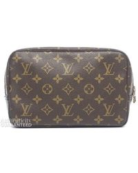 Louis Vuitton Pre-Owned Monogram Canvas Trousse 23 Cosmetic Bag - Lyst