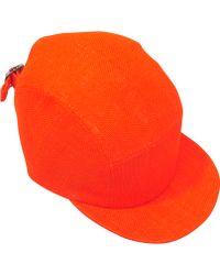 Larose - Orange Cap In Jute Canvas - Lyst
