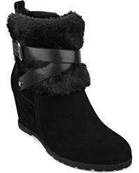 Marc Fisher Trevis Faux-fur Booties - Lyst
