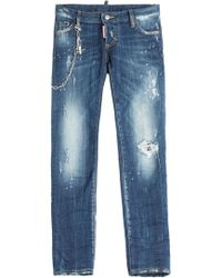DSquared² Distressed Skinny Jeans - Lyst