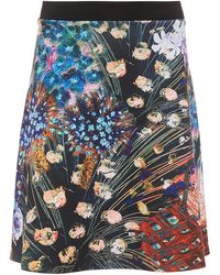 Clover Canyon   Etched Blooms Flared Skirt   Lyst