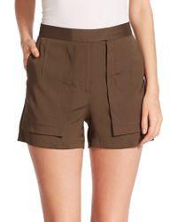 Halston Heritage Twill Cargo Shorts green - Lyst