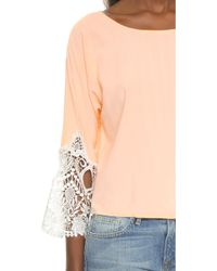 Karen Zambos - Madelyn Crop Top - Sand - Lyst