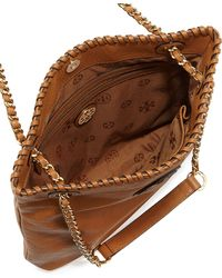 Tory Burch Marion Leather Book Bag - Lyst