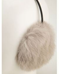 Meteo by Yves Salomon - Fluffy Ear Muffs - Lyst