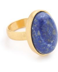 Madewell - Oval Moon Statement Ring - Bright Cobalt - Lyst