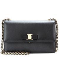 Ferragamo Ginny Leather Shoulder Bag - Lyst